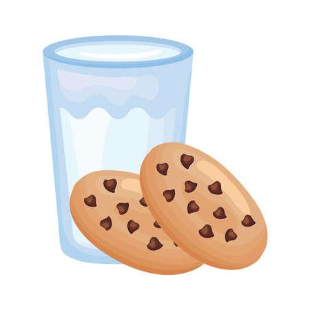 milk healthy breakfast detailed style icon vector illustration design