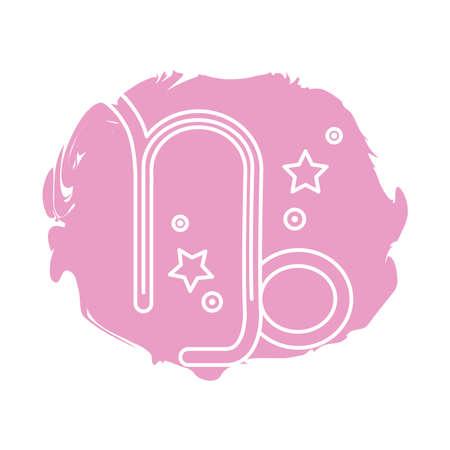 capricorn zodiac sign symbol block style icon vector illustration design