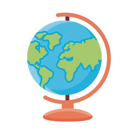 world planet earth school supply flat style icon vector illustration design Çizim
