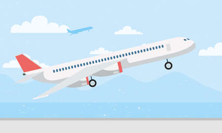 airplane transport airline isolated icon vector illustration design