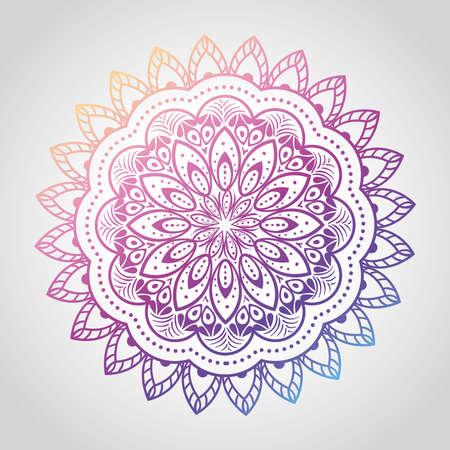 floral mandala of differents colors, vintage luxury mandala, ornamental decoration vector illustration design