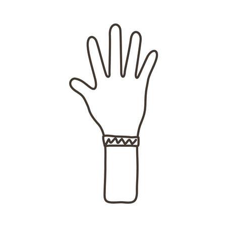 hand human stop protesting line style icon vector illustration design Ilustración de vector