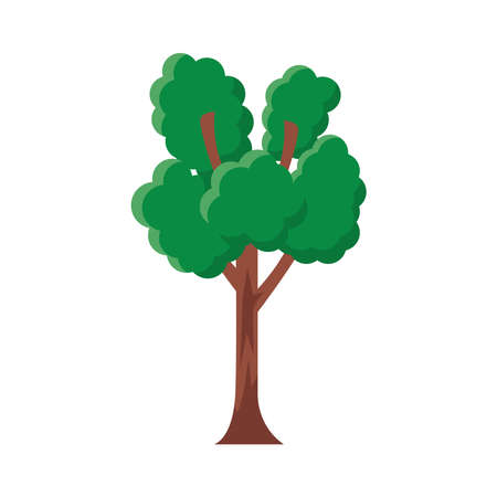 branched tree flat style icon vector illustration design