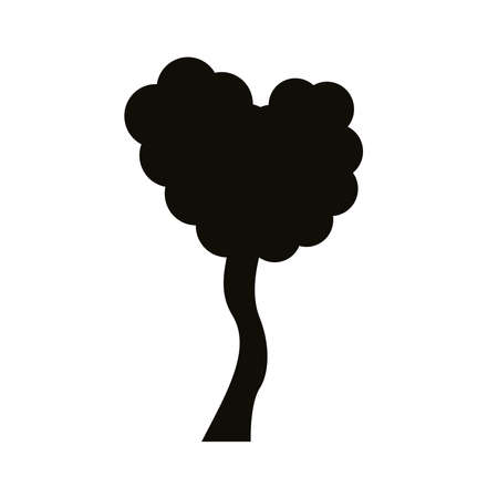 branched tree silhouette style icon vector illustration design
