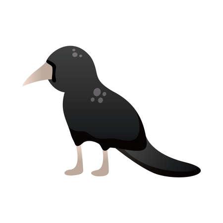 dark raven degradient style icon vector illustration design