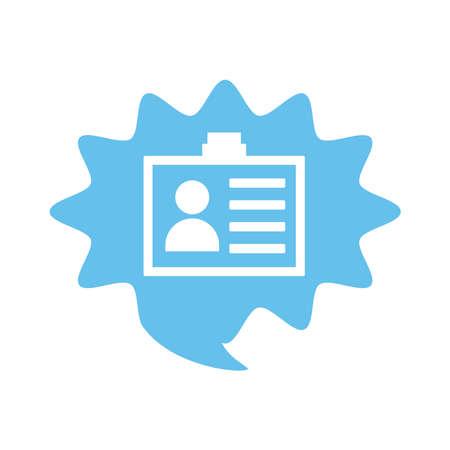 id badge flat style icon vector illustration design