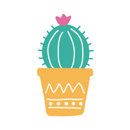 cactus mexican plant flat style icon vector illustration design Vectores