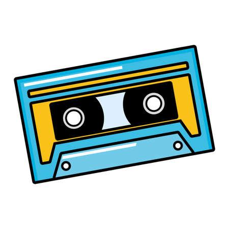 musical retro cassette on white background vector illustration