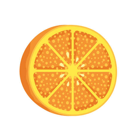 orange citrus fruit healthy icon vector illustration design