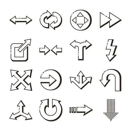 bundle of arrows set icons vector illustration design