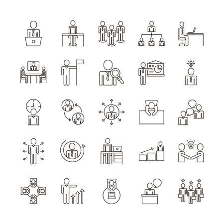 bundle of business people avatars set icons vector illustration design