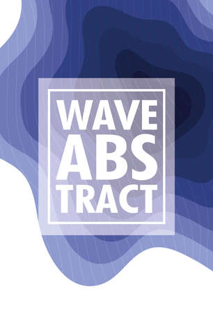 wave abstract with lettering and square frame in white background vector illustration design
