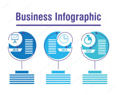 business infographic with years icons vector illustration
