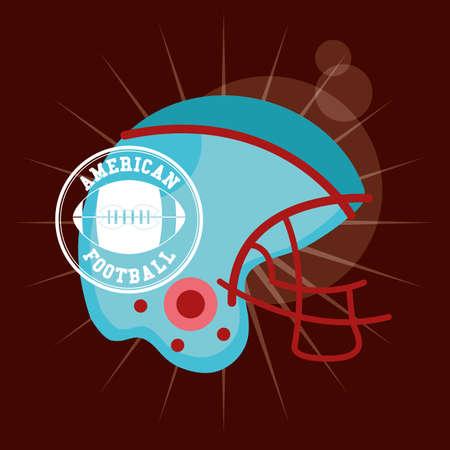 american football sport poster with helmet vector illustration design