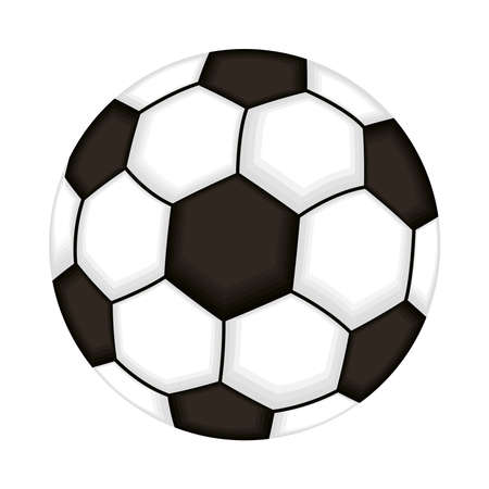 soccer balloon sport isolated icon vector illustration design
