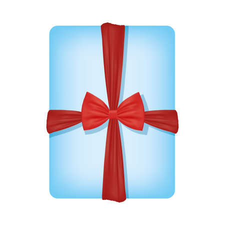 Gift with bowtie design, happy birthday celebration decoration party festive and surprise theme Vector illustration Vektorgrafik