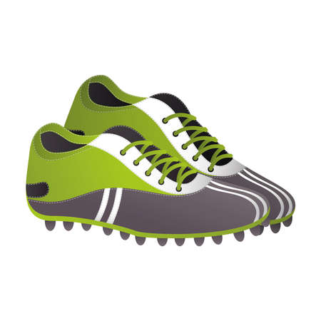soccer sport shoes isolated icon vector illustration design