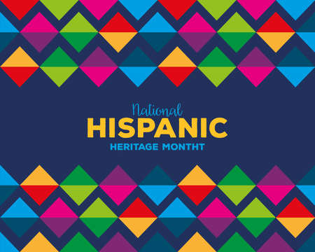 colored pattern background design, national hispanic heritage month and culture theme Vector illustration Vetores