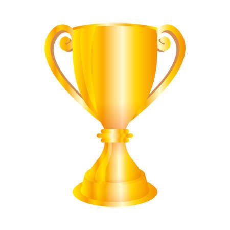 trophy cup award isolated icon vector illustration design Ilustración de vector
