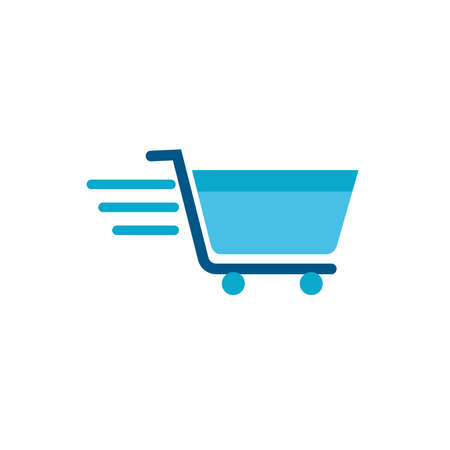 shopping cart commercial isolated icon vector illustration design