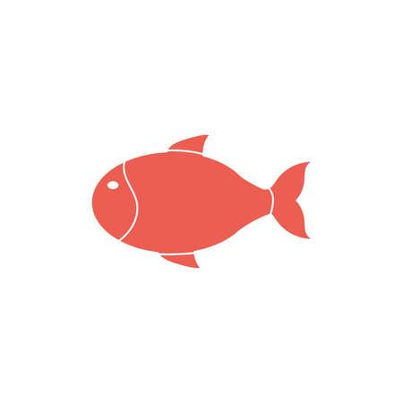 cute fish sea life animal isolated icon vector illustration design