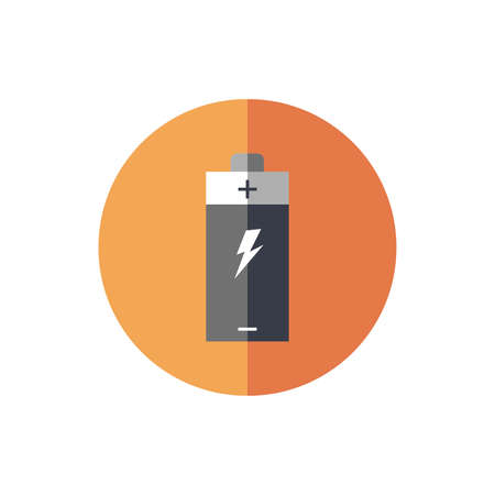 battery alkaline device isolated icon vector illustration design