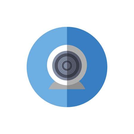 web camera hardware isolated icon vector illustration design