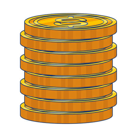 coins cash money isolated icon vector illustration design