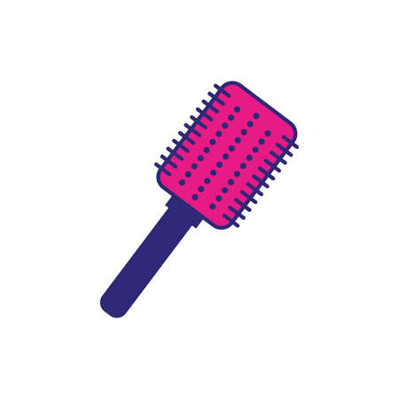 hair brush makeup accessory isolated icon vector illustration design