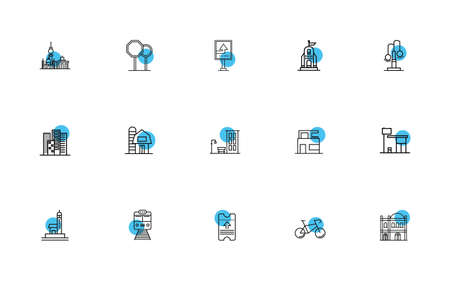 bundle of cities set icons vector illustration design