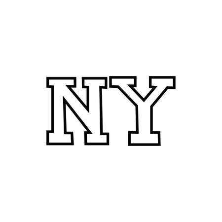 new york word line style icon vector illustration design