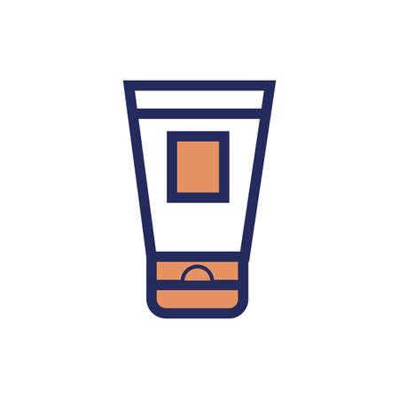 medicine drug cream flat style icon vector illustration design