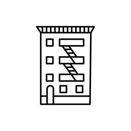 new york building line style icon vector illustration design