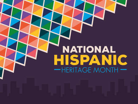hispanic and latino americans culture, national hispanic heritage month in september and october, banner and background vector illustration design