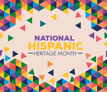 background, hispanic and latino americans culture, national hispanic heritage month in september and october vector illustration design Vecteurs