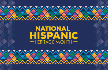 hispanic and latino americans culture, national hispanic heritage month in september and october, background or banner vector illustration design Vecteurs