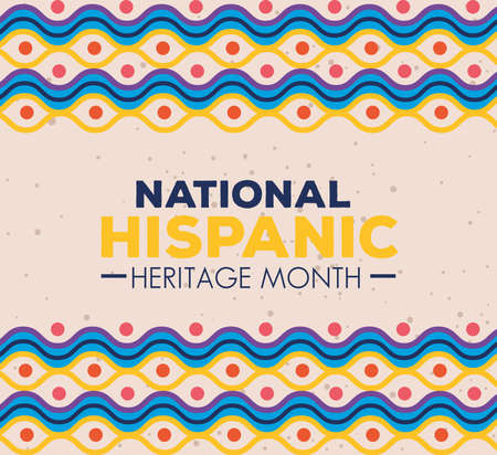 hispanic and latino americans culture, national hispanic heritage month in september and october, background vector illustration design Vecteurs