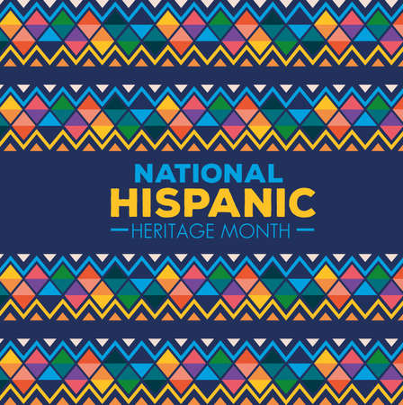 hispanic and latino americans culture, national hispanic heritage month in september and october vector illustration design