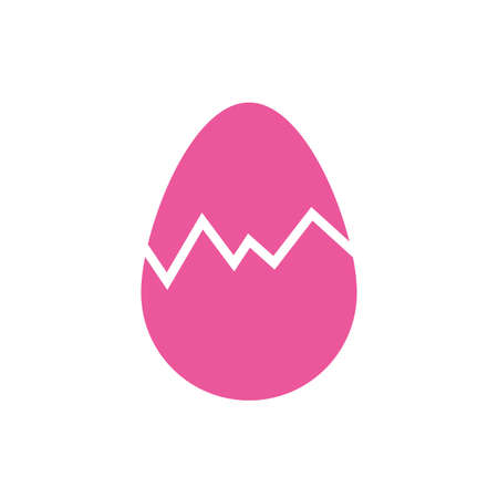 easter egg painted broken flat style vector illustration design 向量圖像