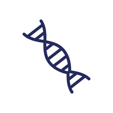 dna medical symbol flat icon vector illustration design