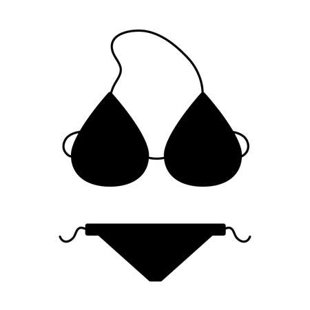 bikini swimwear accessory on white background vector illustration