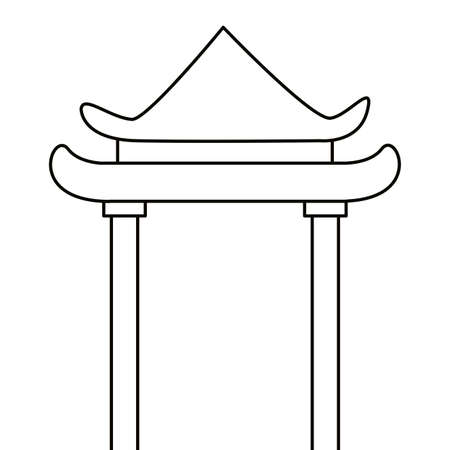 China arch design, Culture asia traditional art famous oriental and landmark tratheme Vector illustration