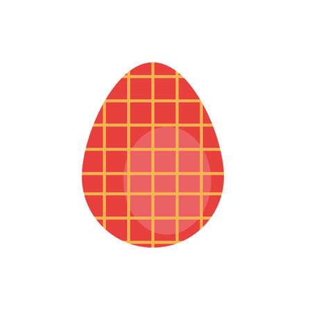 easter egg painted gridded flat style vector illustration design Vectores