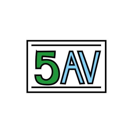 new york 5 av signal fill style icon vector illustration design