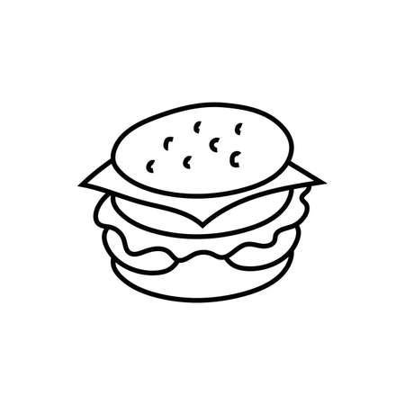 delicious burger fast food icon vector illustration design Ilustración de vector
