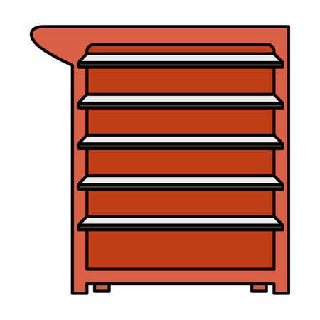 mechanic tools drawer equipment icon vector illustration design  イラスト・ベクター素材