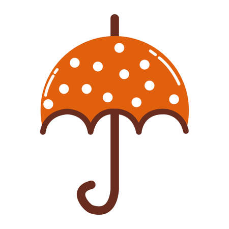 umbrella accessory autumn seasonal icon vector illustration design Иллюстрация