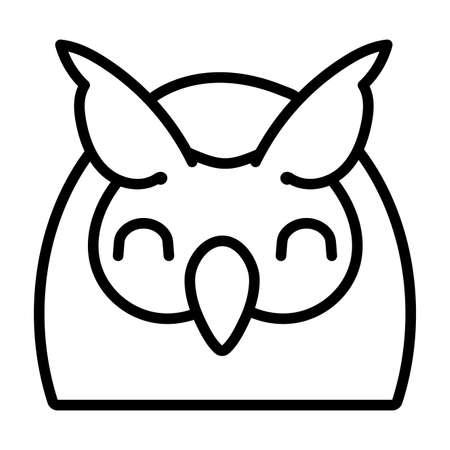 cute little owl bird line style vector illustration design