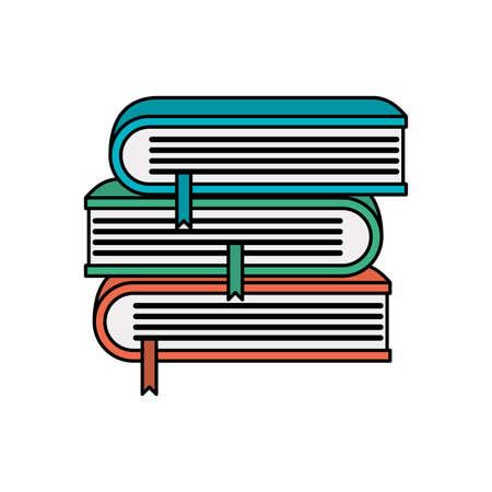 pile text books school icons vector illustration design