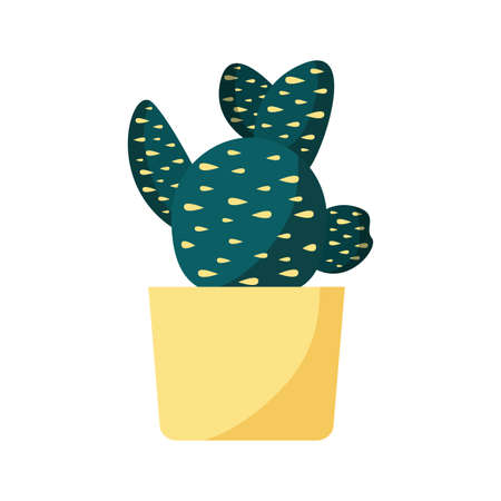 Cactus inside pot design, Plant desert nature tropical summer mexico and western theme Vector illustration Vectores
